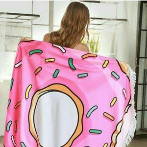 Donut round beach towel